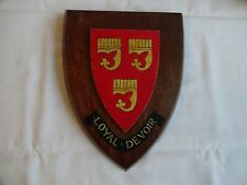 More details for vintage wooden wall plaque/shield grenfell coat of arms 23 cm x 17 cm