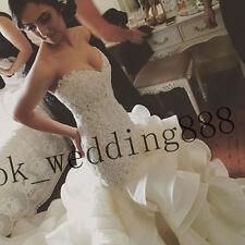 Sweetheart New White/ivory Lace Wedding Dress Mermaid Bridal Gown Custom Size