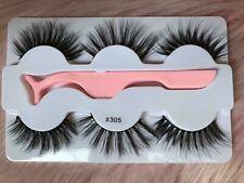 3 Pairs 3 STYLES 💕Natural Mink Lashes Eyelashes Makeup 3D Fur Wsp with Tweezer
