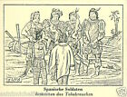 Spain Soldier Indian Pipe Smoking IMAGE CARD History Tobacco HISTOIRE TABAC 30s