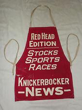 VINTAGE NEWSPAPER RED HEAD EDITION KNICKERBOCKER NEWS STREET STORE VENDOR APRON