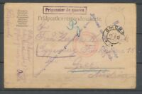 1915 CP d'un prisonnier AUTRICHIEN A OMSK 4 griffes + censures SUPERBE. P3979