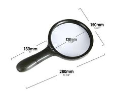 "Large 5"" Illuminated Magnifer Lighted Handheld Magnifying Glass 1.8X 5X Lens"