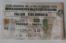 Ticket for collectors World Cup q * Uruguay - Brazil 2005 in Montevideo Brasil