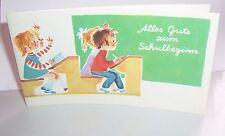 Schulanfang Karte Hanna Roth-Schaberschul ? um 1980 ! (A1618