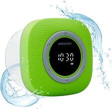 MEDION P66096 Duschradio mit Bluetooth (Saugnapf, LED-Display Wasserdicht) grün