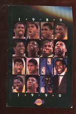1989/1990 NBA Basketball Los Angles Lakers Media Guide EX+