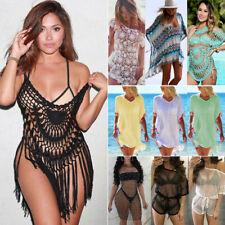 Women's Sheer Bikini Cover Up Swimwear Swim Bathing Suit Summer Beach Mini Dress