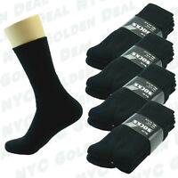 Black 3 12 Pairs Ankle/Quarter Crew Mens Socks Cotton Long Size 9-11 10-13 Sport