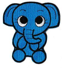 Patch écusson patche bébé éléphant bleu thermocollant transfert hotfix