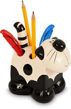 2Kewt/Ceramic/Cat/Feline/Pen/Pencil/Holder/Dispenser/New