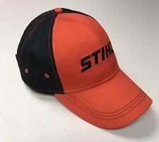 "Stihl Logo Orange Black Cap, Adjustable, ""Altra Rental & Supply, Ontario NY"""