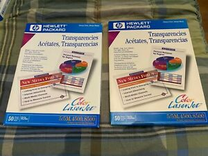 2X HP Premium LaserJet Transparency Film for Laser Printers 50 Sheets C2934A