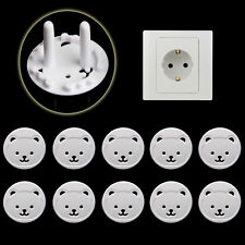 5 X Power Kid Socket Cover Baby Child Protector Guard Mains Point Plug Bear New