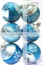 Azul De Navidad Bolas (6 Cm) - Paquete de 6
