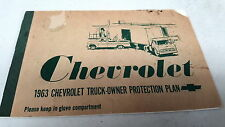1963  CHEVROLET TRUCK  Service Coupon Book