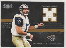 "KURT WARNER Rams 2003 Hot Prospects ""Hot Materials"" GAME WORN JERSEY #091/150"