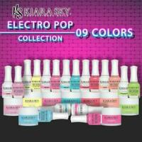 "KIARA SKY Nail Lacquer + Gel + Dip Powder ""ELECTRO POP"" 2019 FULL Collection"