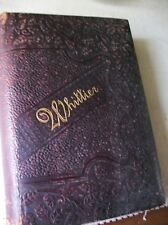 Early Poems of John G.Whittier 1884 Leather cover Gilded edges