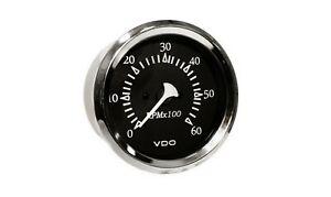 "*VDO Allentare Black 6000 RPM 3 3/8"" (85mm) Sterndrive Tachometer 12V clearness"
