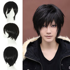 Fashion Sexy Men's Black Short Straight Cosplay Party Hair Wig Full Wigs + Cap