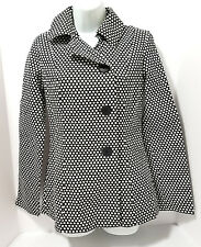 NEW HOT TOPIC Blazer Jacket Size small Super Low Fat Black White Polka Dot