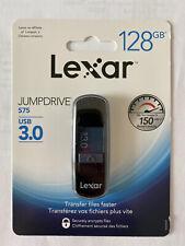 Lexar JumpDrive S75 128GB USB 3.0 Encrypted Secure Drive (LJDS75128ABNLN)