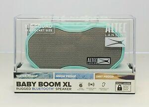 Altec Lansing Baby Boom XL Portable Bluetooth Waterproof Mini Speaker Mint Green