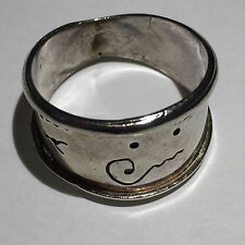 Sterling Silver - Spiral Beveled Cigar Band 4.9g - Ring (9.5) Mens