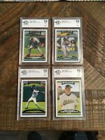 2006 Topps Lot Of 4 Beckett  (BCCG) Graded 10 Nice