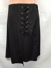 ROCKMANS BLACK LACED SKIRT SMART CASUAL SIZE M