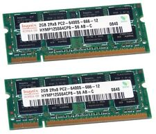 Memoria Ram KIT 4Gb (2x 2Gb) PC2-6400s DDR2-800MHz SoDimm per portatile Notebook