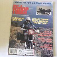 Rider Magazine Paris Dakar Tour Test December 1989 060117nonrh3