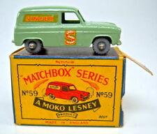 "Matchbox RW 59A Singer Van hellgrün graue Plastikräder in ""B3 MOKO"" Box"