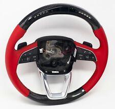 Audi Q7 SQ7 A4 Q5 SQ5 LED Carbon Fibre Steering Wheel - Customisable Options