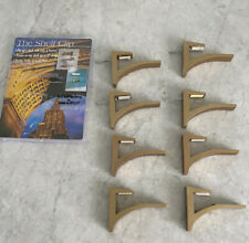 """The Shelf Clip for 5/8""""-3/4"""" thick mounts shelf up to 12"""" deep SET OF 8 GOLD NEW"""