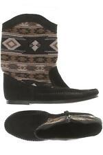 Minnetonka Stiefel Damen Boots Gr. DE 35 Kunstleder, Leder schwarz #6d85bca