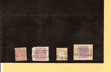 Pr Vor / ZAWADZKI  4 feinst-Kabinett-Stücke, dabei je Ra2 auf NDP 3, Briefstück