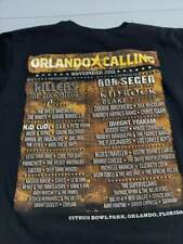 Orlando Calling 2011 Music Festival T-Shirt Adult Large The Killers Raconteurs