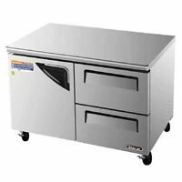 Turbo Air TUF-48SD-D2-N 1 Solid Door+2 Drawers Undercounter Freezer