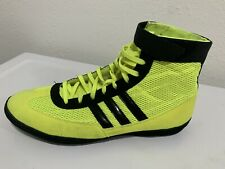 Adidas Shoes Mma Ring Sparring Boxing Yellow Fluorescent And Black Men's 10.5