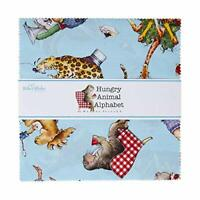 """Hungry Animal Alphabet 10"""" Stacker by J. Wecker Frisch for Riley Blake 42pcs"""