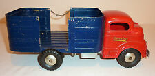 STRUCTO Cast Aluminum Wind-up 1950s BARREL TRUCK ~ 12.5-inch long