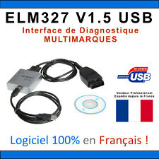 Interface Diagnostic ELM327 1.5 PRO USB Français - MULTIMARQUES - VAG COM VCDS