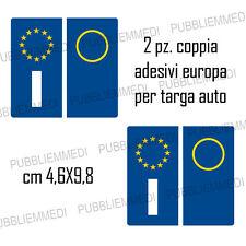 KIT 4 PEZZI ADESIVI ADESIVO PER TARGA EUROPA PER AUTO... STICKERS... BMW AUDI