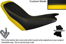 YELLOW & BLACK CUSTOM FITS APRILIA ETX 125 DUAL LEATHER SEAT COVER ONLY