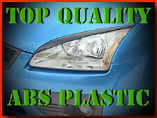 FORD FOCUS 2 II HEADLIGHT BROWS EYELIDS EYEBROWS ABS PLASTIC TRIMS TUNING HIT