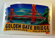 Golden Gate Bridge Vintage Style Travel Decal / Vinyl Sticker, Luggage Label