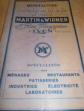 catalogue d'article en fil de fer et metal paniers , ( ref 62 )