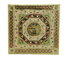 """Peacock Premium Quality Indian Puja Bajot-Table-Chowki-Chaurang Large 18"""""""